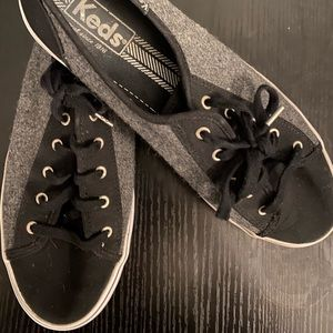 KEDS two toned wool canvas sneakers